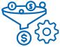 Иконка услуги Техническая реализация<br> автоворонки продаж
